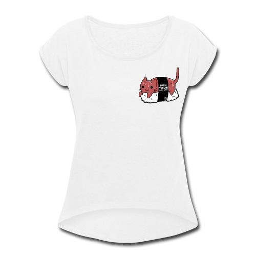 Aloha Kitty - Spam Musubi - Women's Roll Cuff T-Shirt