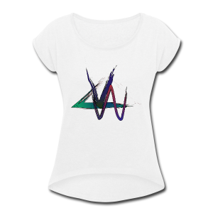Variance Just the logo - Women's Roll Cuff T-Shirt