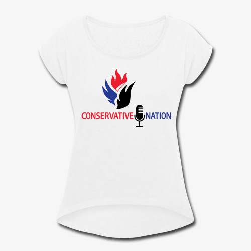 Conservative Nation Double Eagle Collaboration - Women's Roll Cuff T-Shirt