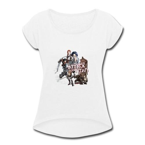 Attack on Titan 2017 new design - Women's Roll Cuff T-Shirt
