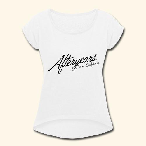 Black Logo - Women's Roll Cuff T-Shirt