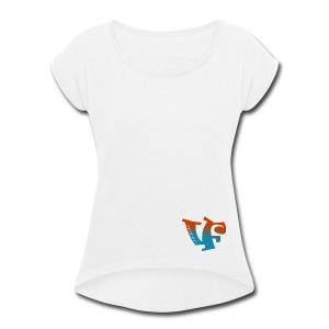 Vegafornia Styles - Women's Roll Cuff T-Shirt