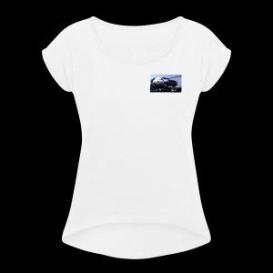 Ballons in a Car - Women's Roll Cuff T-Shirt
