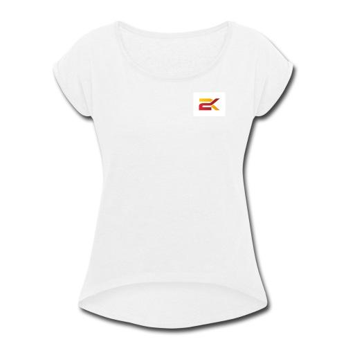 Sam 2K Logo Merch - Women's Roll Cuff T-Shirt