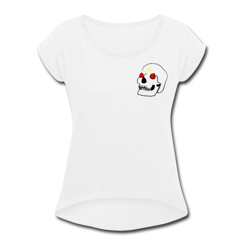 Skelly Eye - Women's Roll Cuff T-Shirt