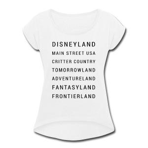 Minimalist Disneyland - Women's Roll Cuff T-Shirt