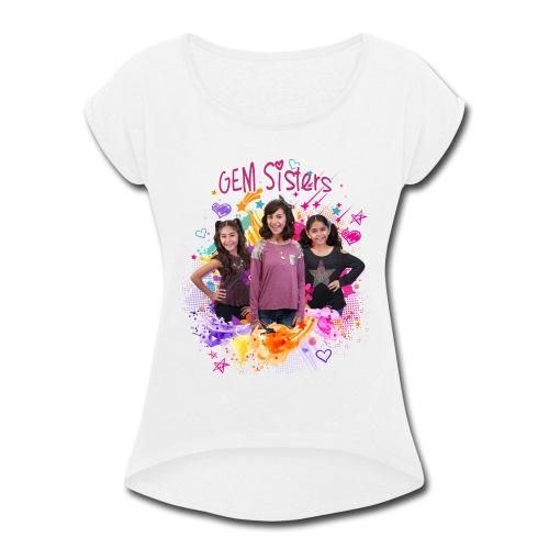 GEM Sisters Color Splash (Bright) - Women's Roll Cuff T-Shirt