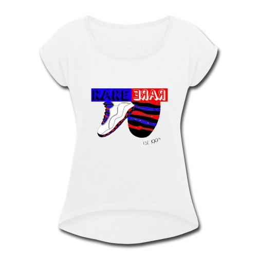 RARE WB J'S - Women's Roll Cuff T-Shirt