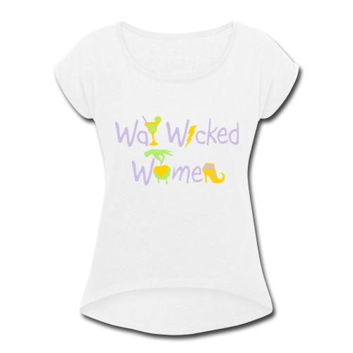 designcrowd_43775_6721701_1281643_66fa62 - Women's Roll Cuff T-Shirt