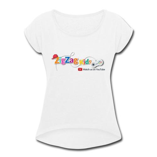 ZigZag Kids Logo Shop - Women's Roll Cuff T-Shirt