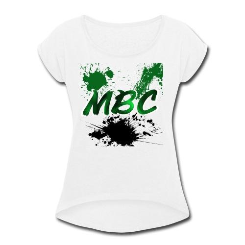 MinerBroConnor With Splatter - Women's Roll Cuff T-Shirt