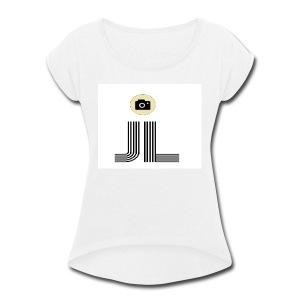 james vlog - Women's Roll Cuff T-Shirt