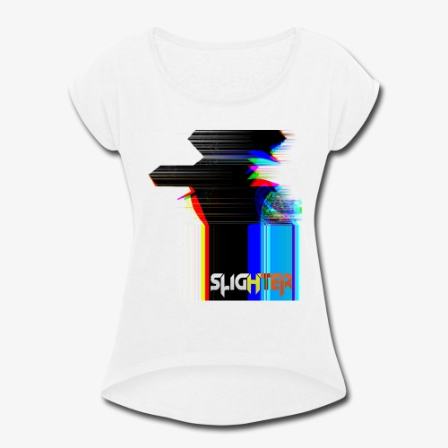 Chroma Glitch - Women's Roll Cuff T-Shirt