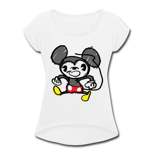 Morky Mouse - Women's Roll Cuff T-Shirt