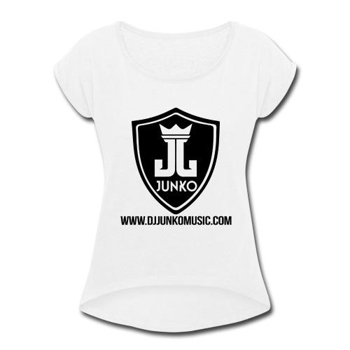 DJ Junko Music - Women's Roll Cuff T-Shirt