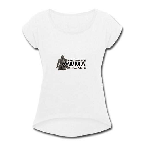 AWMA Logo Full - Women's Roll Cuff T-Shirt