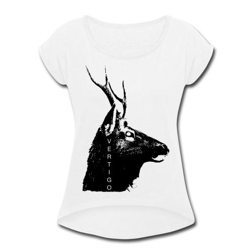 Deer Vertigo - Women's Roll Cuff T-Shirt