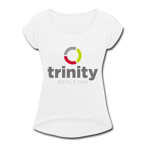 Trinity Logo - Women's Roll Cuff T-Shirt