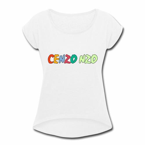 Cenzo NZO Merch - Women's Roll Cuff T-Shirt