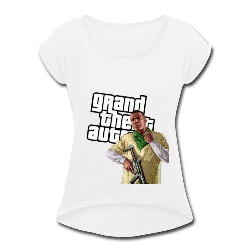 GTAV Franklin - Women's Roll Cuff T-Shirt