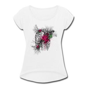 Dead roses - Women's Roll Cuff T-Shirt