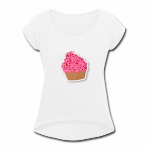 cupcake - Women's Roll Cuff T-Shirt