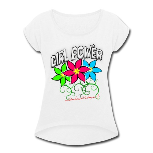 Girl Power: Lotus Flowers - Women's Roll Cuff T-Shirt