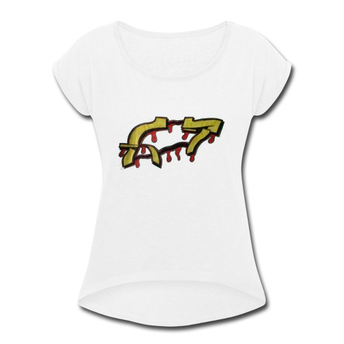 ST graffiti - Women's Roll Cuff T-Shirt