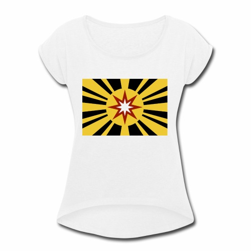 Ad Astra Flag Color - Women's Roll Cuff T-Shirt