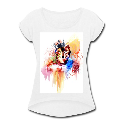 Sir Wolf - Women's Roll Cuff T-Shirt