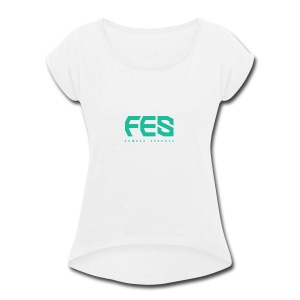 female esports - Women's Roll Cuff T-Shirt