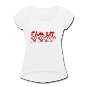 FAM LIT MERCH - Women's Roll Cuff T-Shirt