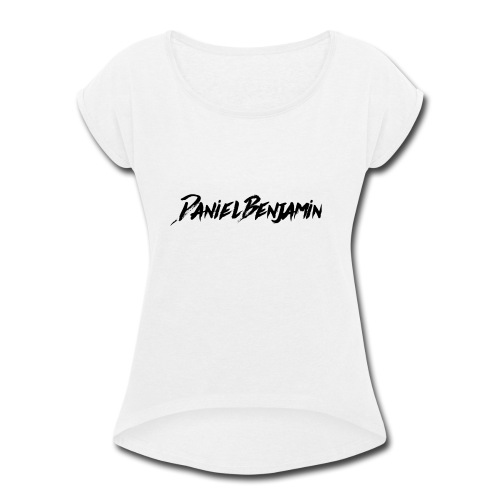 Daniel Benjamin Black Logo - Women's Roll Cuff T-Shirt