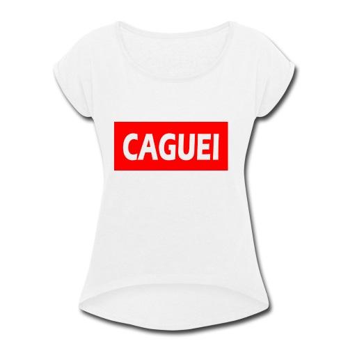 CAGUEI VERMELHO - Women's Roll Cuff T-Shirt