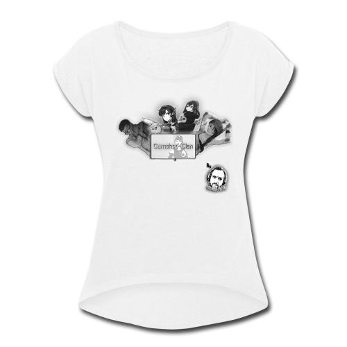 Motivo Cumshot Clan - Women's Roll Cuff T-Shirt