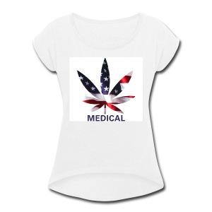 USA Medical - Women's Roll Cuff T-Shirt