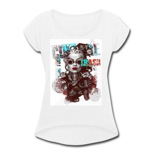 New Fashion T-shirts Women Paris - Women's Roll Cuff T-Shirt