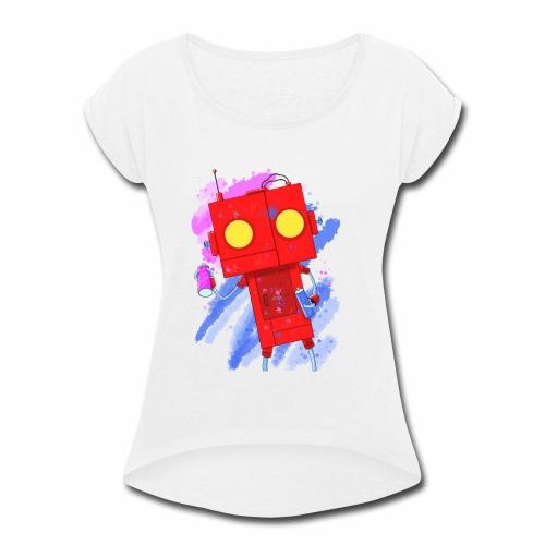 Art Robot - Women's Roll Cuff T-Shirt