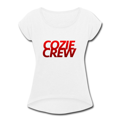 COZIECREW - Women's Roll Cuff T-Shirt