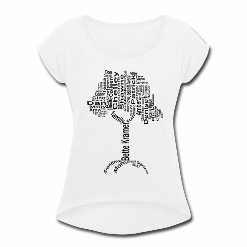 Bette Kramer Family Tree - Women's Roll Cuff T-Shirt