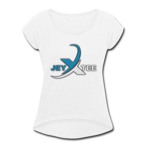 JeyXTee LOGO - Women's Roll Cuff T-Shirt