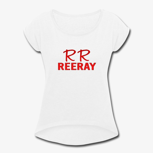 ReeRay YouTube Channel Logo - Women's Roll Cuff T-Shirt
