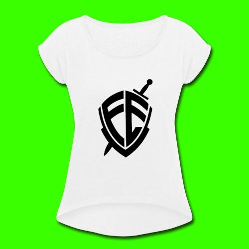 O Brasão da FE !! - Women's Roll Cuff T-Shirt