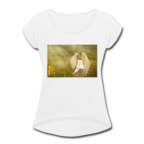 An Angel to Watch Over You - Women's Roll Cuff T-Shirt