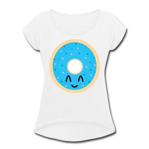 donut time - Women's Roll Cuff T-Shirt