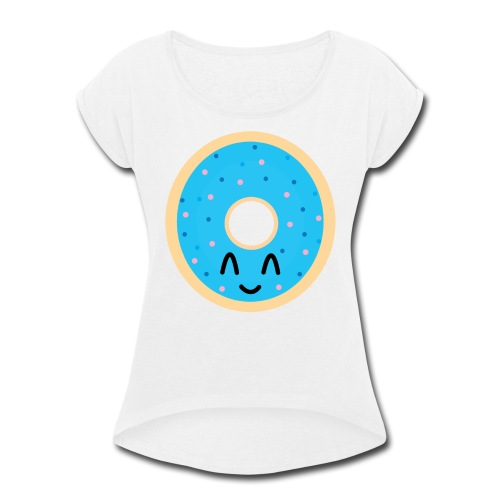 donut time - Women's Roll Cuff T-Shirt