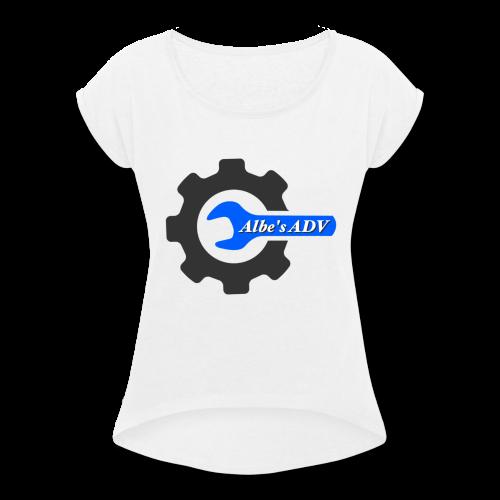 AlbesADV cog - Women's Roll Cuff T-Shirt