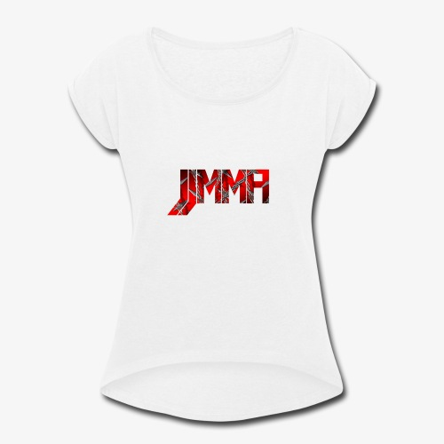 Official JJMMA LOGO barbed wire - Women's Roll Cuff T-Shirt