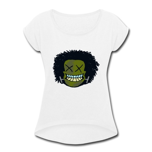DeadHeadOG_-_messyhead - Women's Roll Cuff T-Shirt