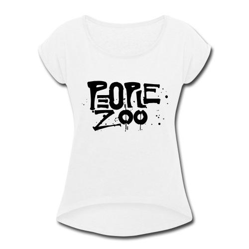 People Zoo Design 1 - Women's Roll Cuff T-Shirt